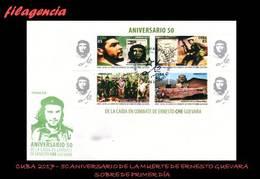 AMERICA. CUBA SPD-FDC. 2017 50 ANIVERSARIO DE LA MUERTE DE ERNESTO CHE GUEVARA. HOJA BLOQUE - FDC