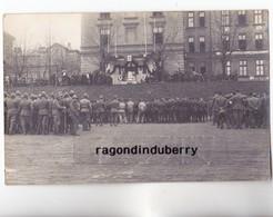 CPA PHOTO - POLOGNE - TESCHEN -CIESZYN - MILITARIA - MESSE En PLEIN AIR Pour Soldats POLONAIS Et Autres 1920 - Pologne