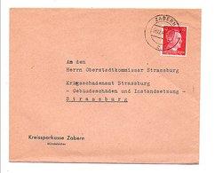 ALLEMAGNE REICH ALSACE LORRAINE LETTRE DE ZABERN (SAVERNE) POUR STRASBOURG DU 16/12/1941 - Allemagne
