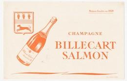 Buvard 21 X 13.5  Champagne BILLECART SALMON Fondée En 1818 - Liqueur & Bière