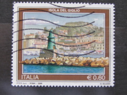 *ITALIA* USATI 2009 - TURISTICA ISOLA DEL GIGLIO - SASSONE 3109 - LUSSO/FIOR DI STAMPA - 6. 1946-.. Repubblica