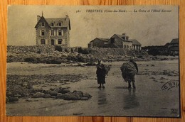 22 : Trestrel - La Grève Et L'Hôtel Kermor - Animée : Couple De Pêcheurs ? - (n°14655) - Andere Gemeenten