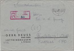 BiZone:  Einschreiben Von Lüttringhausen Nach Gevelsberg 1946 - Bizone