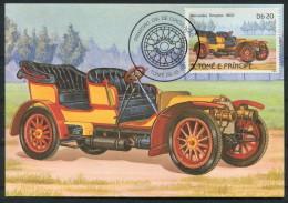 1983 S. Tome E Principe Car Automobile Maxicard MERCEDES SIMPLEX (1902) - Cars