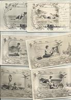 """Lot De 12 Cpa FANTAISIES,  Thème""""sur La Plage"""", N.V. Précurseur ( Tout Frais En + 1,90 - Femmes"""