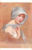 """Reproduction De Peinture Du Peintre """"G. HERVE"""" """" Woman With A Scarf"""" - Carte De L'Union Des Gazés De Guerre En 1933 - Paintings"""