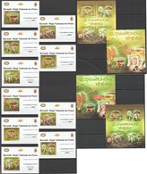 XX236 !!! IMPERFORATE, PERFORATE 2012 BURUNDI MUSHROOMS CHAMPIGNONS VENENEUX !!! 2KB+2BL+10 LUX BL MNH - Champignons