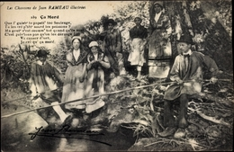 Chanson Cp Les Chansons De Jean Rameau, Ca Mord, Angler, Trachten - Costumes