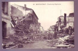 82 - INONDATION 1930 - MONTAUBAN - FAUBOURG SAPIACOU DETRUIT - ANIMÉE - - Montauban