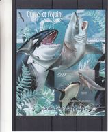Orques - Requins - Burundi - COB BF 328 ** - MNH - NON Dentelé - Protection De La Nature - Valeur 35 Euros - Burundi