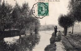 CPA - 59 - ARLEUX - Rivière Du Moulin - Pêcheurs - Cliché Peu Fréquent - Arleux