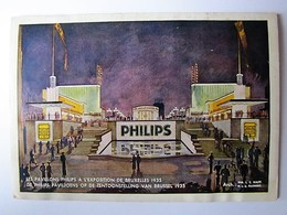 BELGIQUE - BRUXELLES - Exposition De 1935 - Les Pavillons Philips - Wereldtentoonstellingen