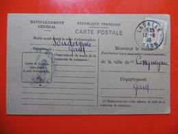 RAVITAILLEMENT GENERAL CACHET SOUDORGUES - Marcophilie (Lettres)