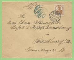 Allemagne - Lettre De Bingen 18.10.16 Vers Strasbourg - Censure Metz - Alsazia-Lorena