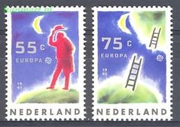 Netherlands 1991 Mi 1409-1410 MNH ( ZE3 NTH1409-1410 ) - Holanda