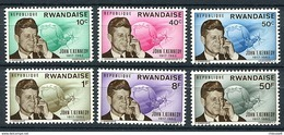 Rwanda ** N° 122 à 127 - 2e Ann. De La Mort De J.F. Kennedy - Prix 2.00 Euro;s + Port - Rwanda