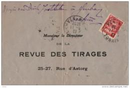 INDOCHINE  LETTRE  DE YENBAYA PARIS 1937 PAR HANOI - Indochine (1889-1945)