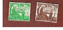 IRLANDA (IRELAND) -  SG 133.134 -  1944  MICHAEL O'CLERY (COMPLET SET OF2)  - USED - 1937-1949 Éire