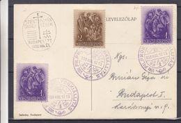 Hongrie - Carte Postale De 1938 - Oblit Budapest - Exp Vers Budapest - Religieux - - Hongrie