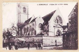 X14120 DEMOUVILLE Calvados L'Eglise XIIe XVIe Siècles 28 Janvier 1929 ( Lisez )-FONQUES - France