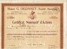 69-DIGONNET. Maison G. DIGONNET. LYON. DECO COQ Sur Mappemonde. CNA - Actions & Titres