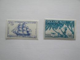 1941 - 1944 Océanie Yv 137 + PA 18 * MH Bateaux Ships   Cote 5.20 €  Michel 145 + 194 Scott B 12A + ? - Posta Aerea