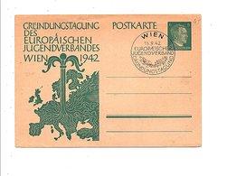ALLEMAGE REICH 1 ER JOUR OBLITERATION CONGRES JEUNESSE DE VIENNE 1942 - Allemagne