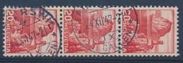 "HELVETIA - Mi Nr 327 Y (strook Van 3) - Cachet ""RAPPERSWIL - (ST-GALLEN)"" - (ref. 976) - Oblitérés"