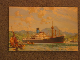 BLUE FUNNEL ART CARD OFFICIAL - Cargos