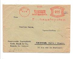 ALLEMAGNE REICH EMA SUR LETTRE DE BRAMSCHE POUR LA FRANCE 1942 OUVERTE PAR LA CENSURE - Allemagne