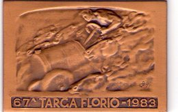Palermo  67^ Targa Florio  Bronzo  Misura 4,x 6  Del 1983 - Palermo