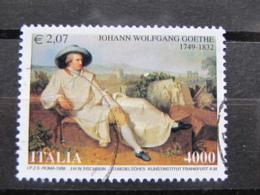 *ITALIA* USATI 1999 - 250° JOHANN WOLFGANG GOETHE - SASSONE 2424 - LUSSO/FIOR DI STAMPA - 1991-00: Used
