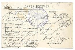 Guerre 14 18 CHERBOURG Manche Cachet Violet Hôpital De La Bucaille 1915 Cpa L'atelier Des Torpilles .. ..G - WW I