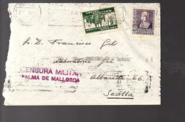 Cruzada Contra El Paro Palma De Mallorca Censura Military > Sevilla (8-29) - 1931-50 Briefe U. Dokumente