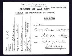 ALL-BL3- MILITARIA- CARTE D'UN PRISONNIER DE GUERRE ALLEMAND  DANS UN CAMP EN GRANDE BRETAGNE- 1945- 2 SCANS - Storia Postale