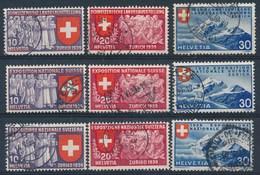 HELVETIA - Mi Nr 335/343 - Gest./obl. - Cote 28,00 € - Schweiz