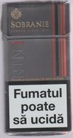 SOBRANIE  - Russian Empty Cigarettes Carton Box - - Empty Cigarettes Boxes
