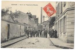 CPA 92 SCEAUX Sortie De L' Imprimerie Charaire - Sceaux