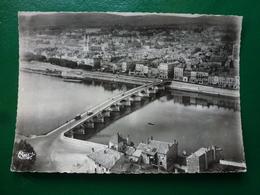 Macon Saone Et Loire Vue Aérienne Prise De St Laurent  Avec Le Pont Les Quais  Sur La Saone Et Les Monts Du Maçonnais - Macon