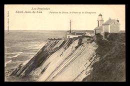 64 - ST-JEAN-DE-LUZ - FALAISES DU SOCOA - LE PHARE ET LE SEMAPHORE - Saint Jean De Luz