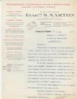 Levallois Perret - Ets Sarton - Fournitures Pour Carrosserie - Sellerie - Automobile - Aviation 1927 - Frankrijk