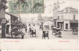 Singapore, Singapour, North Bridge Road, Stamps,timbres ,1909,  2 Scans - Singapore