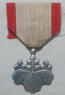 Medaille Japonaise WW 2 : ORDRE Du SOLEIL LEVANT . 8° Clase  . JAPAN MEDAL . - Medals