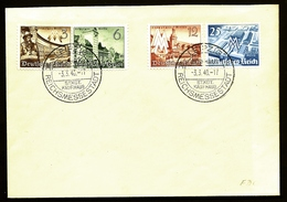 ALL-BL 6- LETTRE FDC AVEC BEAU TIMBRAGE N° 663 A 666- CAD REICHSMESSESTADT 3-3-1940- LEIPZIG- - Allemagne