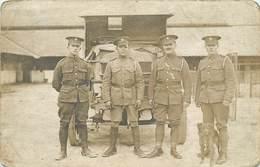 GUERRE 1914/18 - Militaires Anglais Devant Leur Véhicule; Carte Photo. - War 1914-18
