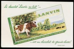 Buvard  -  Chocolat LANVIN - Chocolat