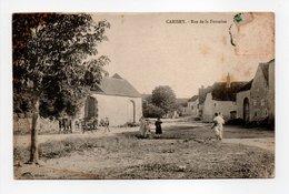 - CPA CARISEY (89) - Rue De La Fontaine (avec Personnages) - Edition Blonde - - Frankreich