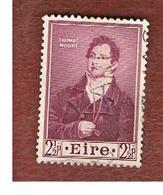 IRLANDA (IRELAND) -  SG 152 -  1952   THOMAS MOORE, POET   - USED - 1949-... Repubblica D'Irlanda