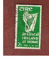 IRLANDA (IRELAND) -  SG 154 -  1953  AN TOSTAL: IRISH HARP   - USED - 1949-... Repubblica D'Irlanda