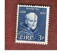 IRLANDA (IRELAND) -  SG 170   -  1957 FATHER L. WADDING  - USED - 1949-... Repubblica D'Irlanda